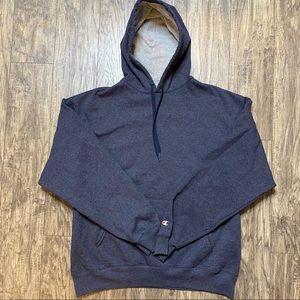 Champion Hoodie Sweatshirt Pullover Blue Size XL